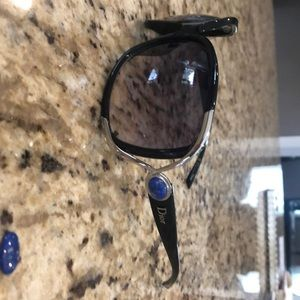 Dior sunglasses with lapis stone on sides